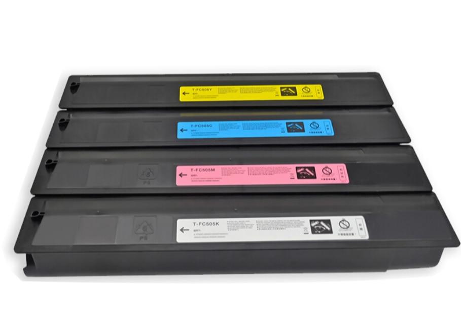 4pc/set new copier Color Toner cartridge TFC505X compatible for toshiba 2000/2500/2505/3005/3505ac/ 4505/ 5005 kcmy