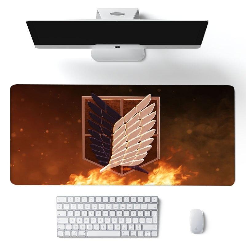 90x40 см для косплея по аниме «атака на Титанов» (аниме большой коврик для мыши замок края Мышь Коврик для компьютерной Мышь Pad XXL игровой коври...