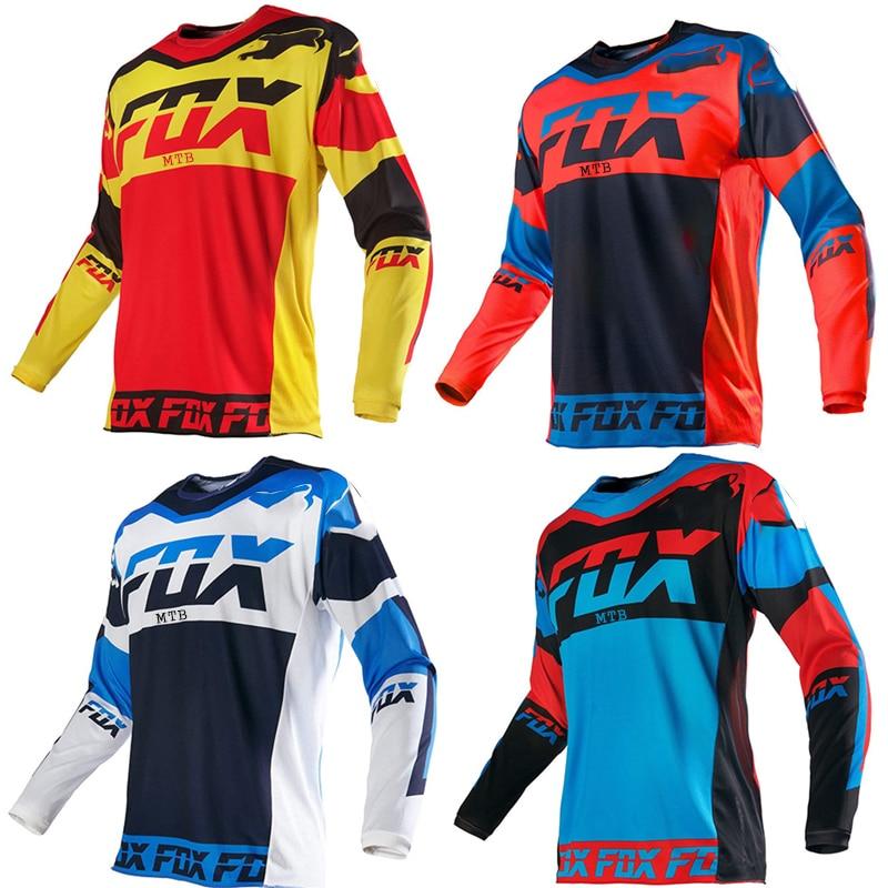 Fox Vtt-Camiseta de Ciclismo para Hombre, Maillot corto, equipo deportivo para Motocross,...