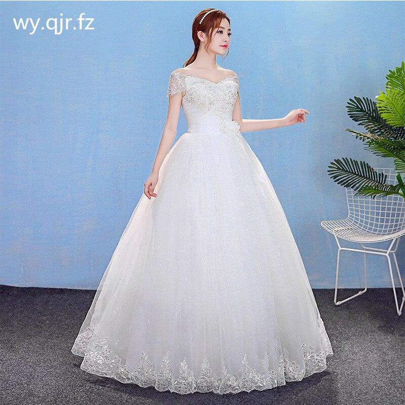 HMHS-Y809 # العروس الزفاف اللباس الكرة ثوب الدانتيل يصل طويل بالجملة رخيصة المرأة الملابس حزب فساتين قارب الرقبة المطرزة