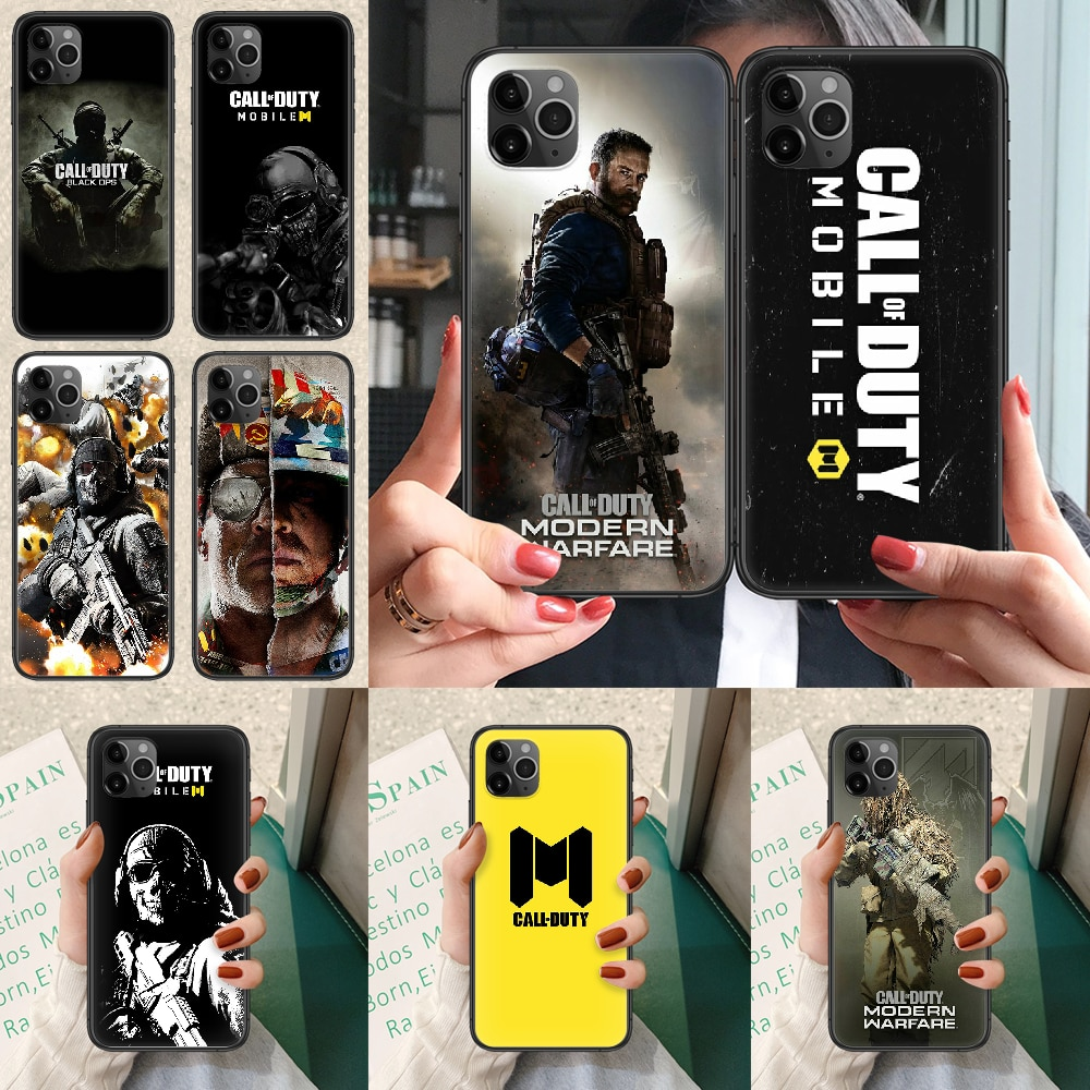 Call of Duty Phone case For iphone 4 4s 5 5S SE 5C 6 6S 7 8 plus X XS XR 11 12 mini Pro Max 2020 black hoesjes silicone