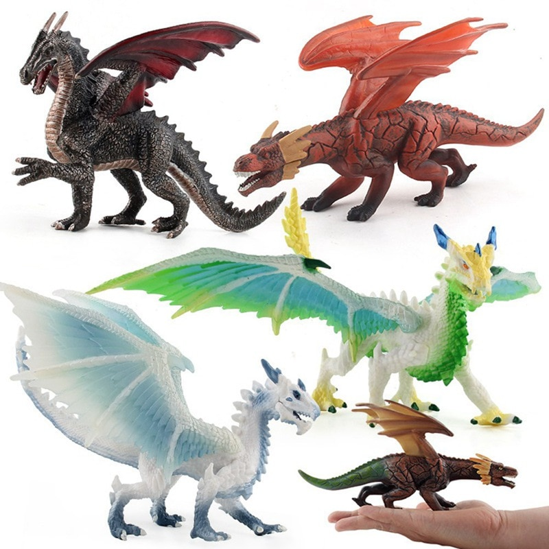 [funny] 20cm lord of the rings toy smaug dragon resin figure statue toys collection model desktop decor decoration kids toy gift 2020 Simulation Flying Dragon Dinosaurs Action Figures Animals Model Collection Kids  Education Toy Gift Ornaments anime figure