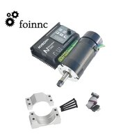 48v brushless spindle driver with hall55mm clamp bracket400w 12000r er8 brushless spindle motor with with screws kit
