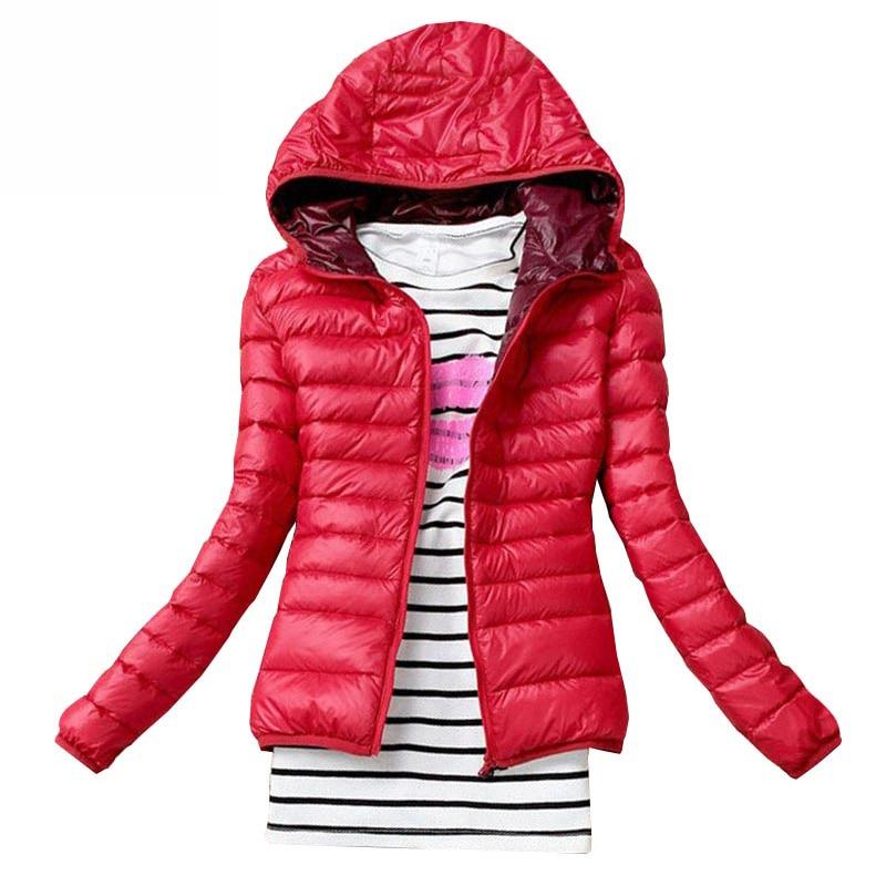 Женские легсветильник удобные короткие пальто с капюшоном, однотонные классические модные куртки с длинным рукавом и карманами, осенне-зим...