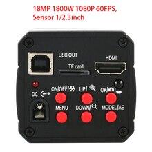 18MP 1080P 60FPS Hd Hdmi Usb Digitale Industrie Video Inspectie Microscoop Camera Tf Card Video Recorder Voor Pcb Ic solderen