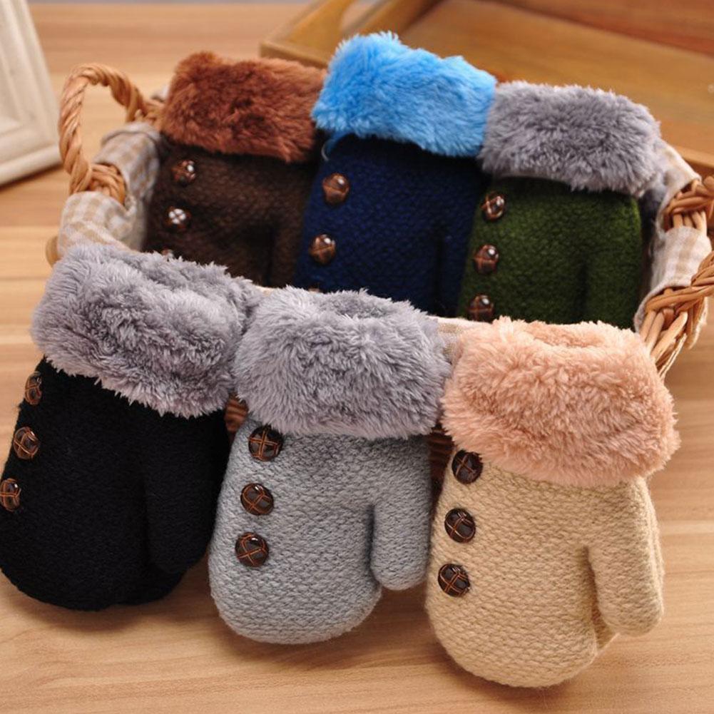 Детские перчатки детские варежки Зимние Вязаные перчатки детские теплые веревочные варежки для детей 1-7 лет