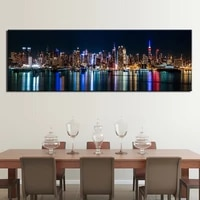 unframed one piece new york city night view landscape posters home decor decorative prints canvas wall art paintings pictures
