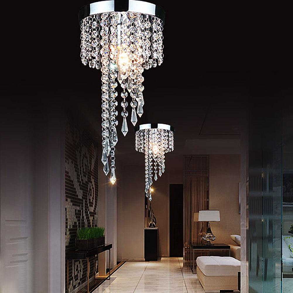 Moderno cromo LED candelabro con cristales de iluminación colgante lámpara de techo cristales de ahorro de energía lampadario lampadari avizeler