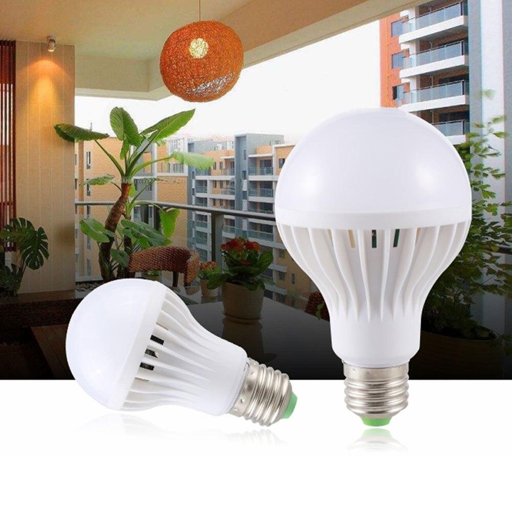 Звуковой светильник E27 с датчиком движения, активация света, 3 Вт, 5 Вт, 7 Вт, 9 Вт, 12 Вт, лампа AC 220 В, 230 В, светильник льник для лестницы, коридора