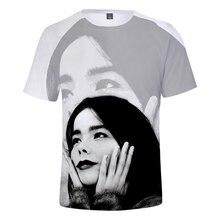 Nouveau chanteur bjork 3D t-shirt en garçons/filles été cool manches courtes Harajuku haute qualité hip hop décontracté bjork imprimer t-shirts populaires