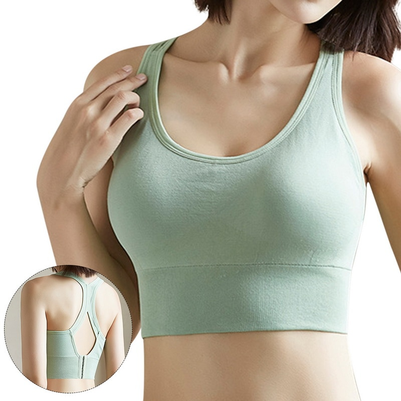 Push Up Bra Women Sports Bras Breathable Wirefree Padded Top Fitness Gym Yoga Workout