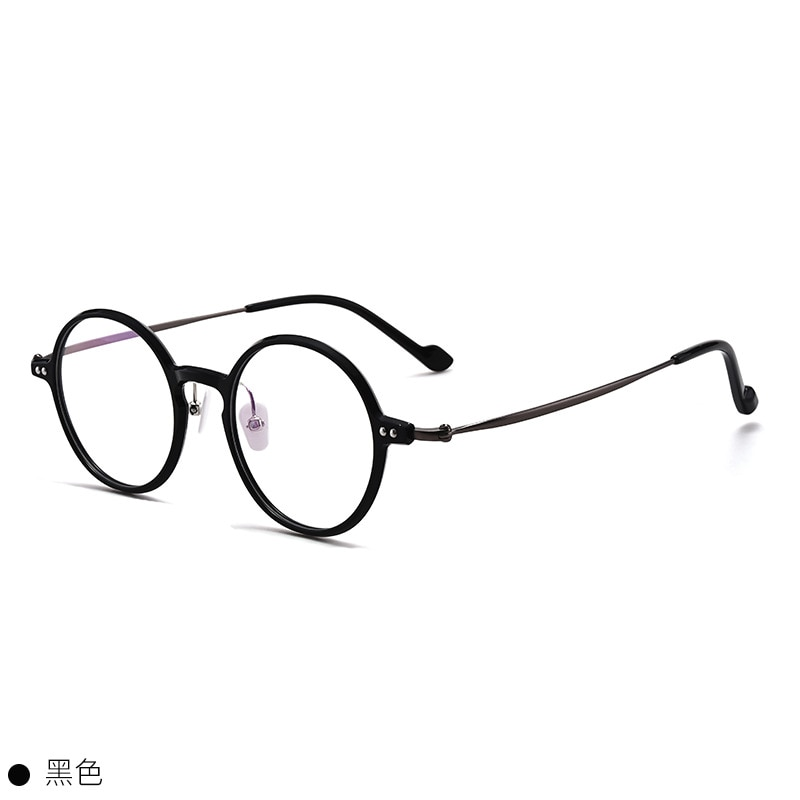 Titanium Glasses Frame Men Women Vintage Transparent Round Eye Glasses Optical Myopia Eyeglasses Frames Man Retro Eyewear Oculos