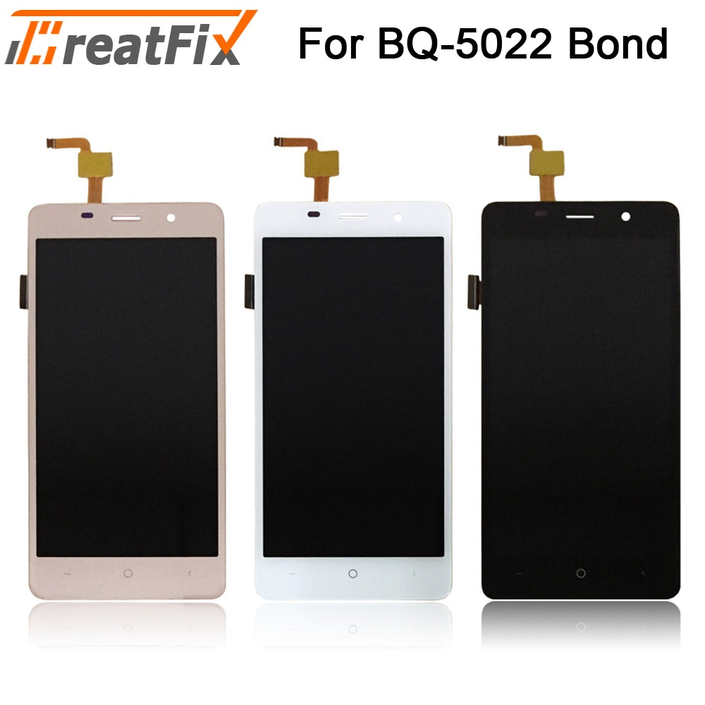Para bq mobile BQ-5022 bond display lcd tela de toque digitador assembléia para bqs 5022 tela lcd ferramentas gratuitas
