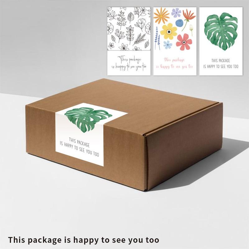 50 шт. подарок упаковка бумажная коробка крафт-бумага наклейка «спасибо» срочная пересылка в виде подарочной коробки цветка коробки упаковк...