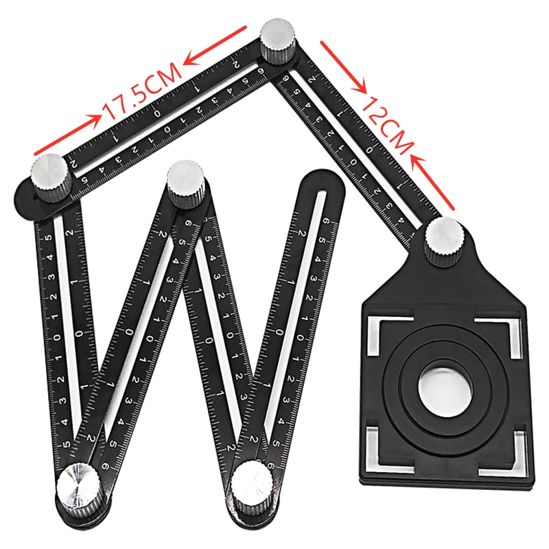 Protractor localizador telha abertura posicionamento modelo multi-função ferramenta ajustável alvenaria vidro fixo punch ângulo de medição ru