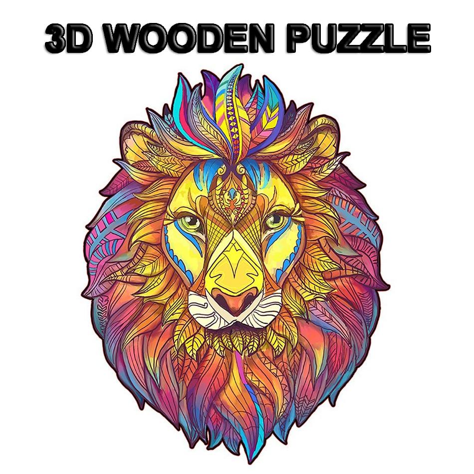11 color de rompecabezas de madera adultos DIY rompecabezas para chica niños rompecabezas de madera de forma de Montessori недорого
