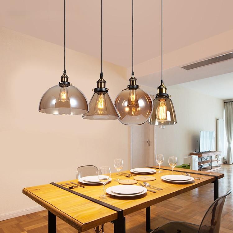 Винтажный стеклянный подвесной светильник в стиле ретро, освещение для ресторана, бара, кухни, гостиной, коридора, комнатный декоративный с...