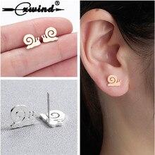 Cxwind New Minimalist Snails Stud Earrings for Women 2019 Jewelry Fashion Animal Cat Heart Earrings