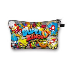 Super Zings Cosmetic Case Woman Cartoon Game Makeup Bag Large Capacity Multifunction Toy storage bag