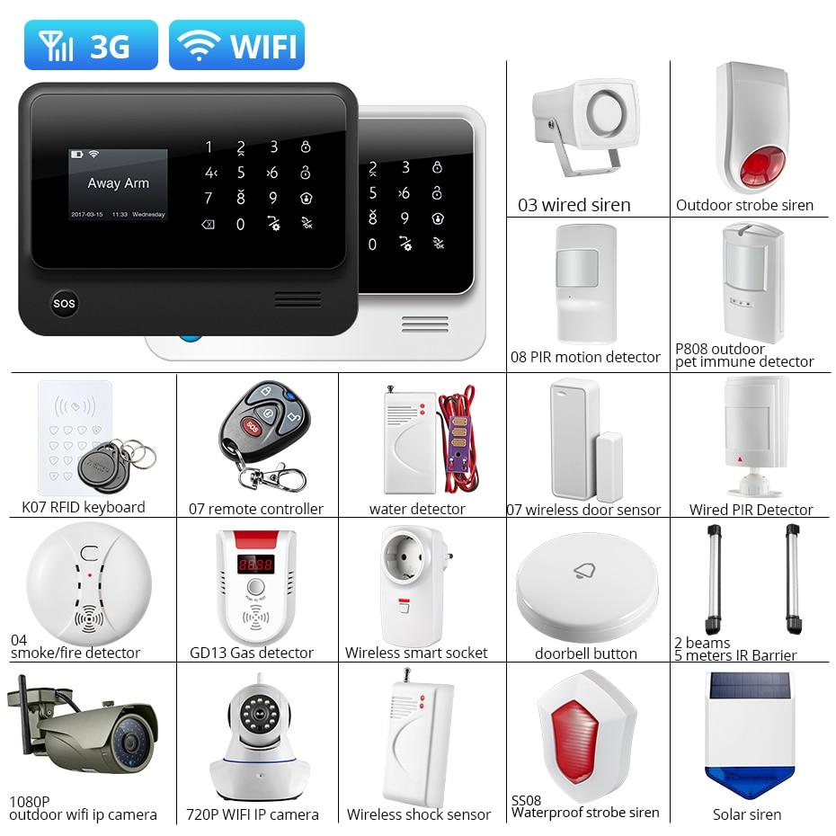 Towode DIY WIFI 3G GSM inalámbrica GPRS aplicación remota DE Control DE sistema DE alarma DE seguridad para el hogar 1080P HD cámara ES RU ES PL DE voz