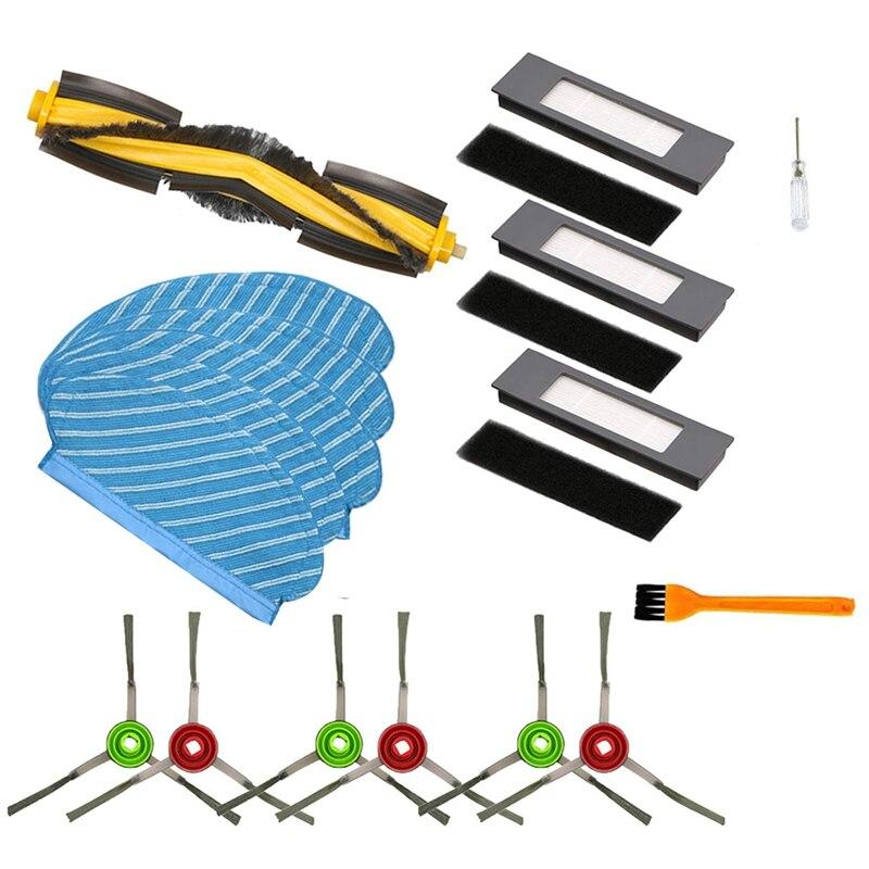 Para ecovacs deebot ozmo 950 rolo escova lateral filtro kit aspirador de pó peças acessórios reposição
