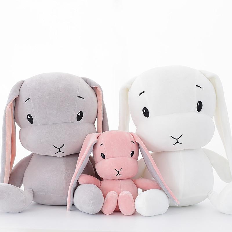 Conejo lindo juguetes de peluche conejito peluche y peluche Animal muñeca de juguete para bebé compañía juguete para dormir niños regalo de cumpleaños