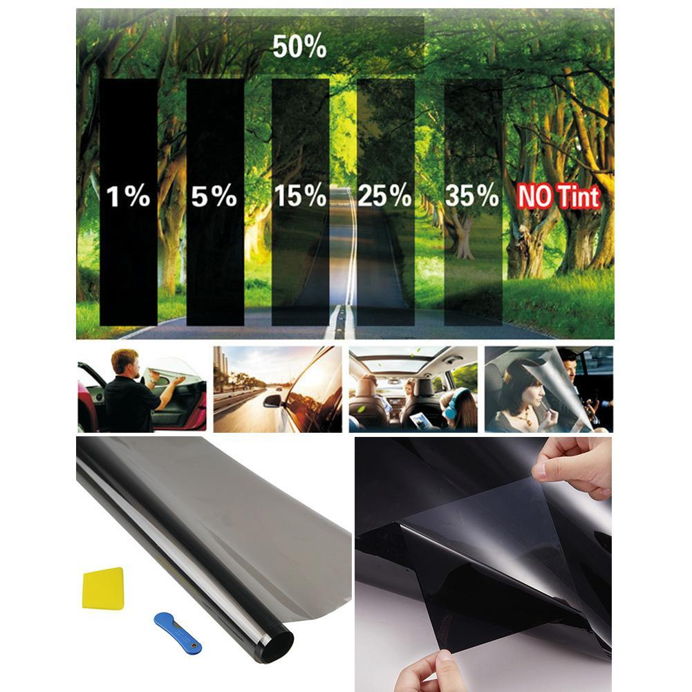 Black Car Window Tint Film Glass Auto Sticker House Commercial Solar Protection