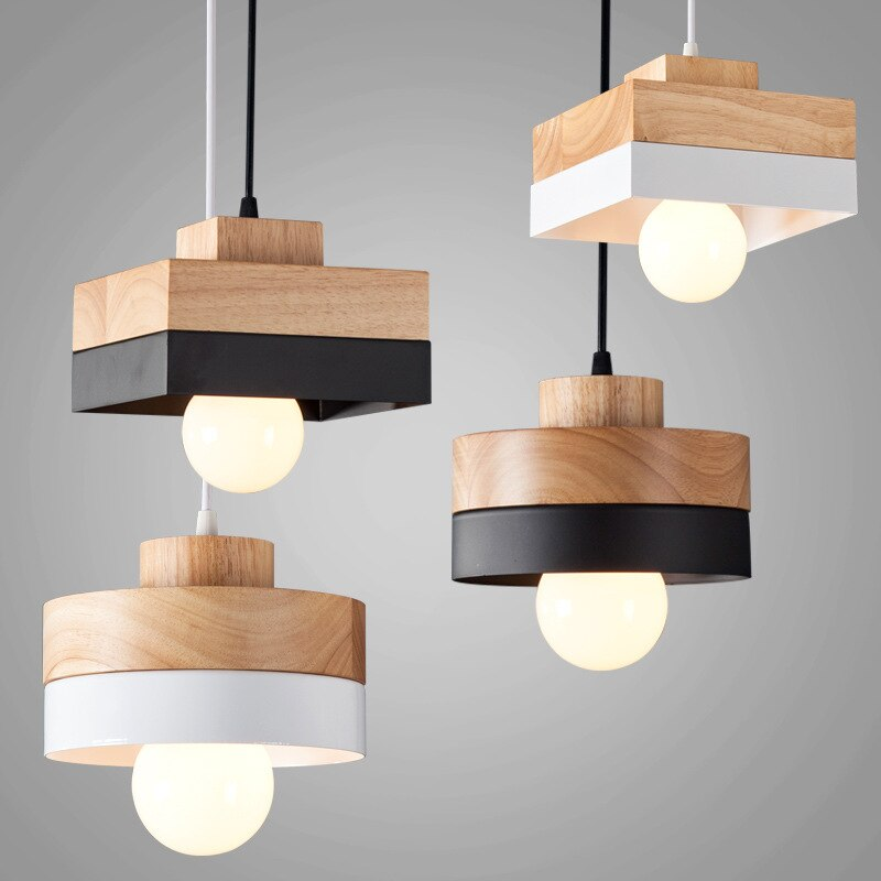 LukLoy-مصباح معلق Led خشبي حديث ، مصباح بجانب السرير ، مقهى ، مطبخ ، غرفة طعام