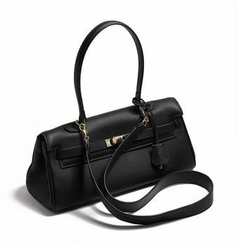 Bag women 2021 autumn and winter new leather shoulder bag handbag wild atmosphere portable underarm bag large-capacity bag women