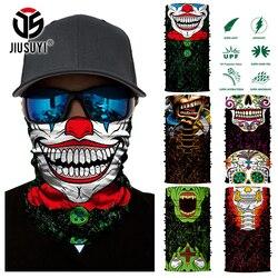 3D бесшовная Волшебная бандана Джокер клоун Призрак Череп труба шеи теплее лицо крышка головной платок головная повязка головной убор сноуборд Хэллоуин