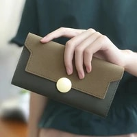 new women long wallet purses round hasp coin purse lady card holder wallets female fashion clutch money bag pu leather wallet