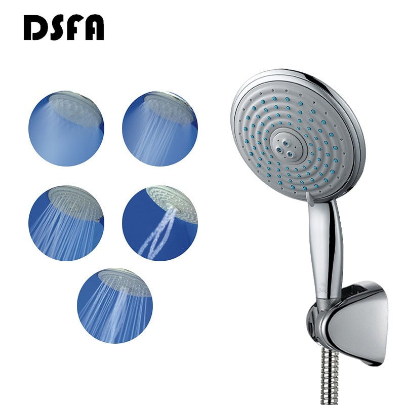 DSFA 5 طرق ارتفاع ضغط دش رئيس 150 مللي متر سوبر لوحة كبيرة مستديرة الكروم دش رئيس رئيس الحمام دش رئيس دعوى