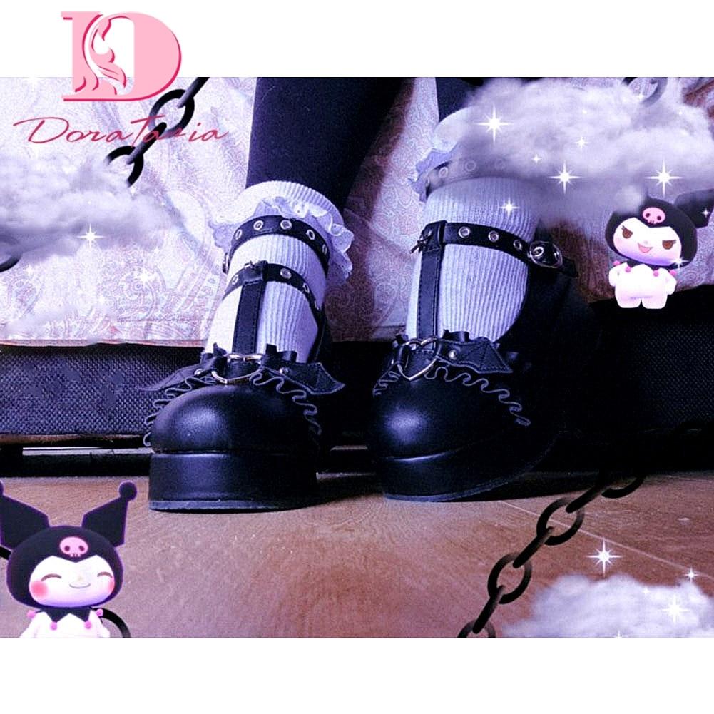 DORATASIA brand fashion female lolita cute women's pumps platform wedges high heels pumps sweet goth