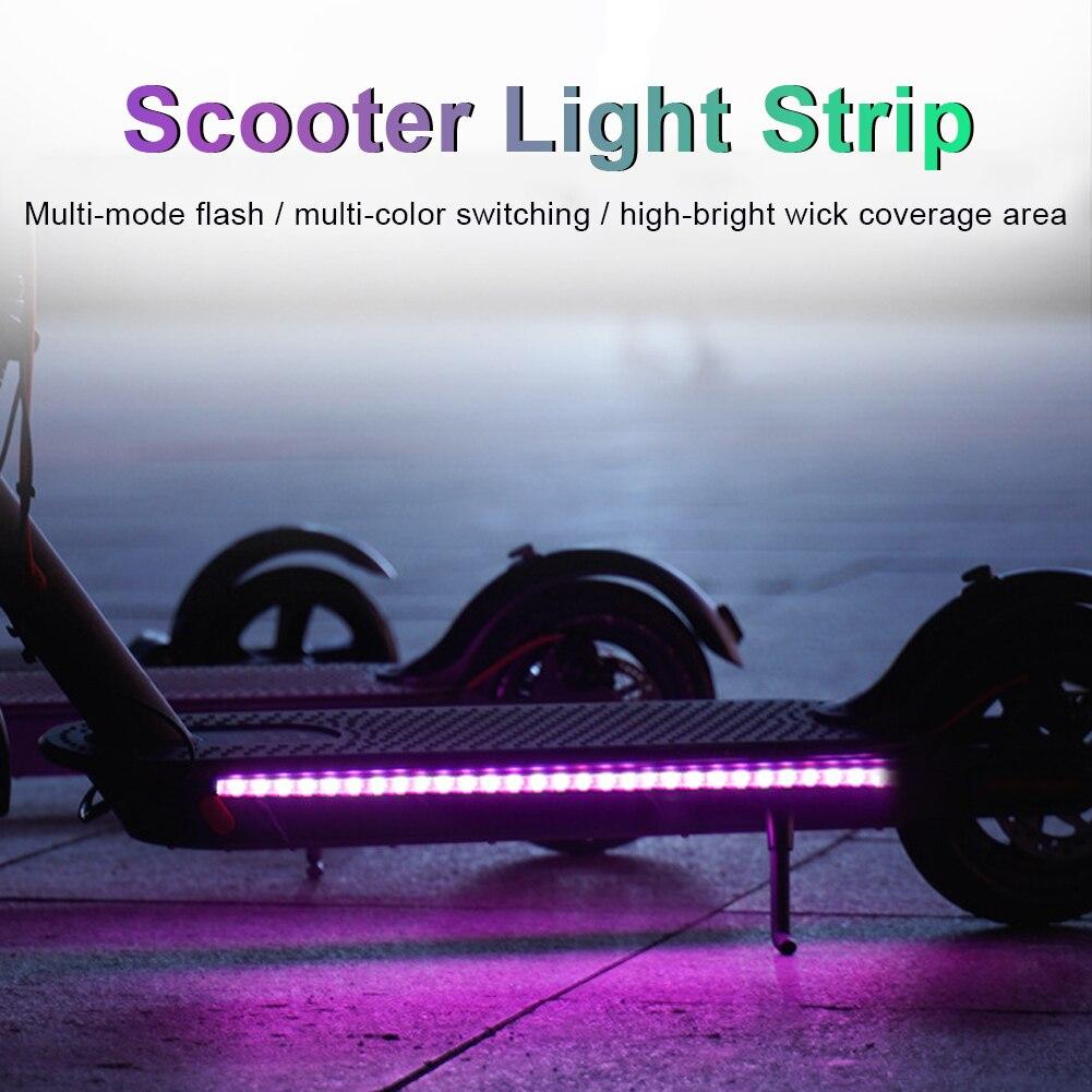 Tira conduzida lanterna barra lâmpada para xiaomi m365 scooter elétrico skate luz da noite de segurança luz da noite nova chegada