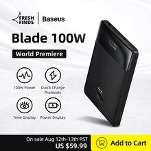 World Premiere Baseus 100W Power Bank 20000mAh Type C PD Fast Charging Powerbank Portable External B