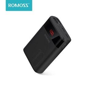 ROMOSS Ares 10 10000 мАч Внешний аккумулятор с двойным USB портом внешний аккумулятор дорожный размер портативное зарядное устройство для iPhone