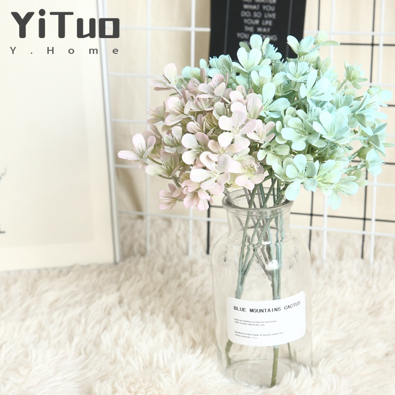 AliExpress - YiTuo 1 Piece Plum Blossom Wedding Bouquet With Grass, Lead Lead Flower Wall Hanging Flower MW66771