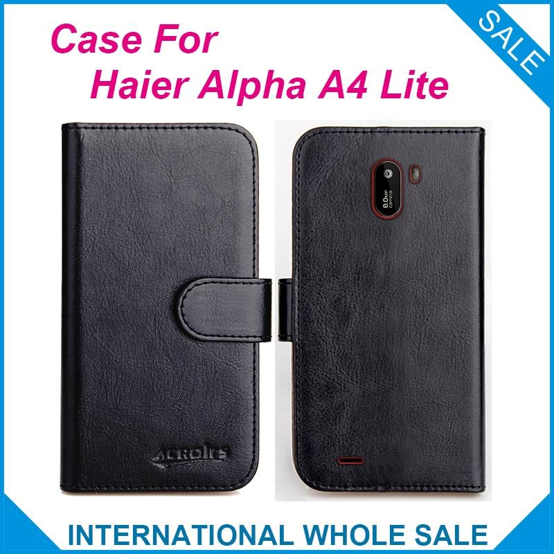 Haier alpha a4 lite caso 6 cores flip slots couro carteira casos para haier alpha a4 lite capa slots saco do telefone cartão de crédito