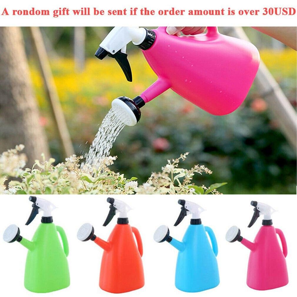2 in 1 Plastic Watering Can Indoor Garden Plants Pressure Spray Water Kettle Adjustable Sprayer 1L TN99