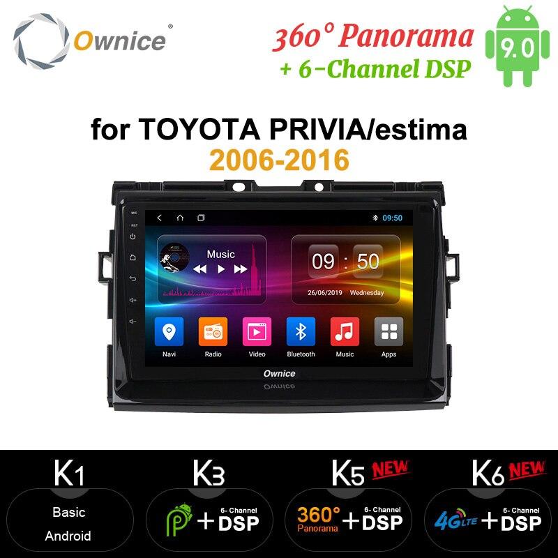 Ownice 8 Core 4G 64G Android 10 DSP SPDIF coche DVD Radio GPS Navi reproductor carplay para Toyota Previa Tarago Estima Aeras 2006-2016