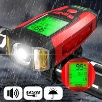 bicycle headlight front bike light flashlight for usb rechargeable light bicycle waterproof headlight bicycle bike accessories