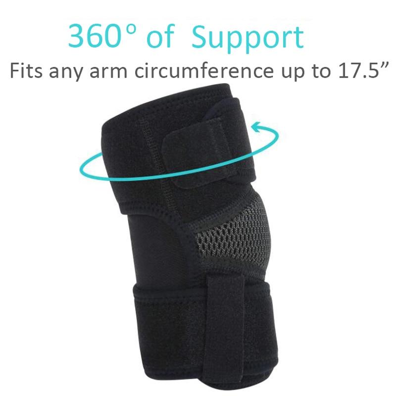 1Pc Elbow Support Compression Sport Arm Forearm Brace Support Pad for Tendonitis Epicondylitis Tennis Elbow Golf Elbow Treatment