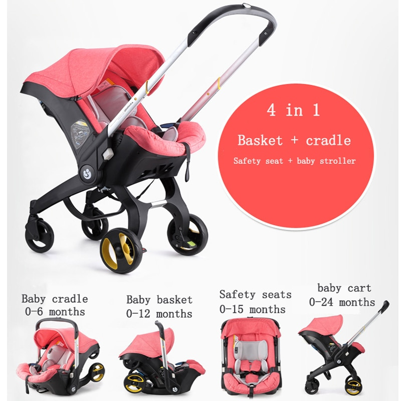 Baby Carrier Strollers 3-in-1 Infant Car Seat and Stroller Multi-function Dual-use Baby Bassinet 4-in-1 Mother Travel Equipment