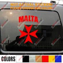 Autocollant de gravure de croix de malte   Étiquette pour voiture, croque de vinyle, taille de malte, couleur no bkgrd