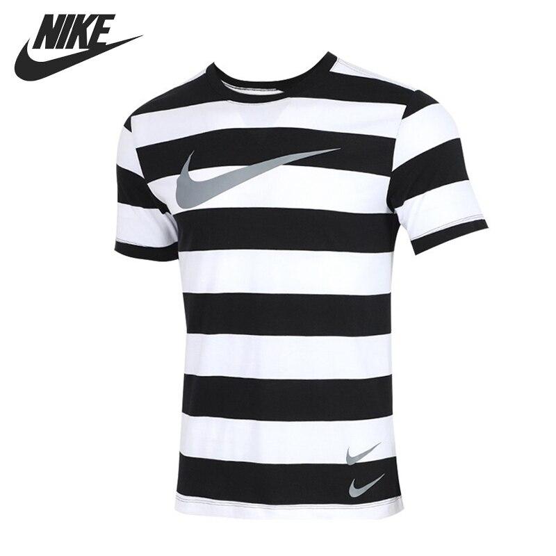 Recién llegado, camiseta a rayas NIKE AS M NSW SWOOSH, camisetas para hombre, ropa deportiva de manga corta