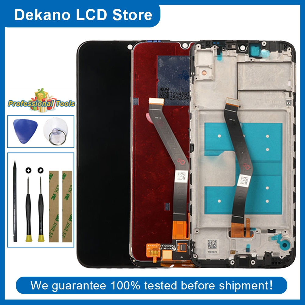 For Huawei Honor 8A/8A Pro 2019 JAT-L09 JAT-L29 JAT-L41 JAT-LX1 AT-AL00 LCD Display Touch Screen Digitizer + Frame Tools Sticker
