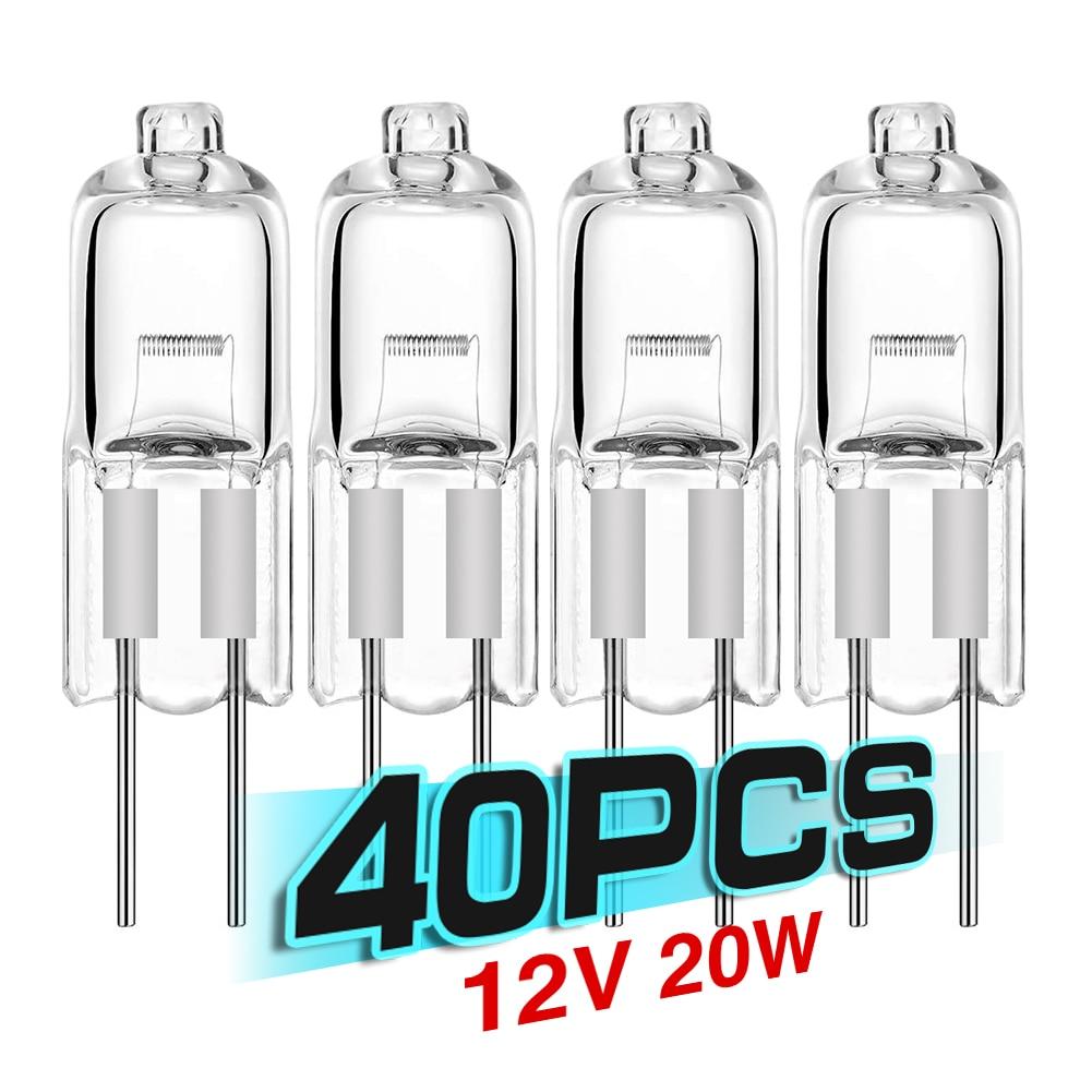 40PCS/LOT SALE Ultra g4 12 v 20 w halogen lamp G4 12V bulb inserted beads crystal lamp halogen bulb