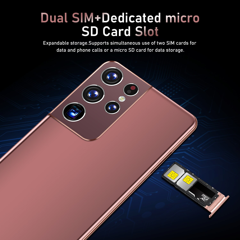 S21 Ultra Android 10 smart phone 6.8'' Large Full Screen 2GB 32GB  GPS WiFi 4G Global Version Dual sim card Mobile phone enlarge