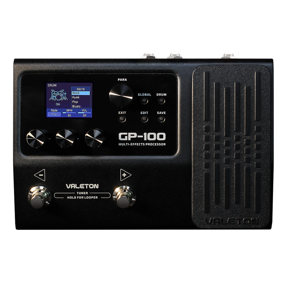 Valeton Guitar Multi Effects Processor Pedal with 140 Built in Effects Looper IR OTG USB Multi Language  Expression Peda GP-100