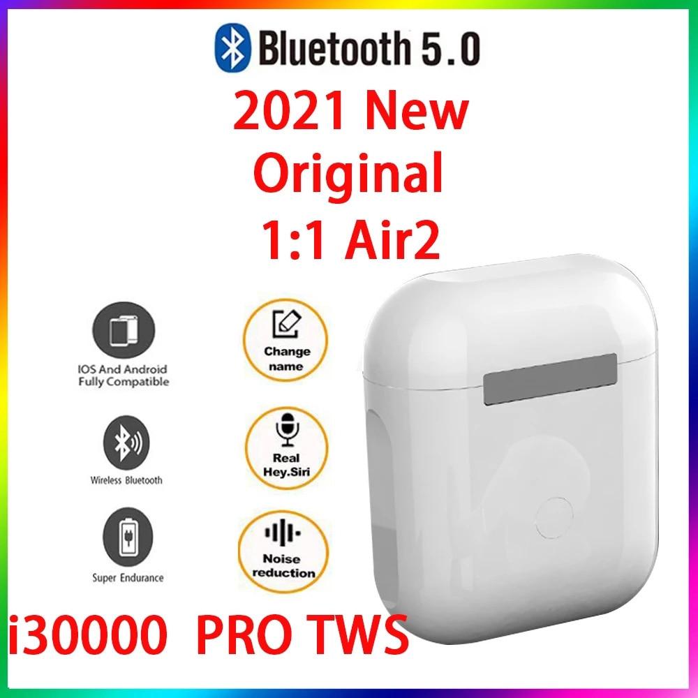 Original i30000 PRO TWS 1:1 GPS nombre auriculares Bluetooth inalámbricos PKi7 i11...